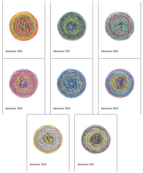 Amoroso lana grossa alle kleuren