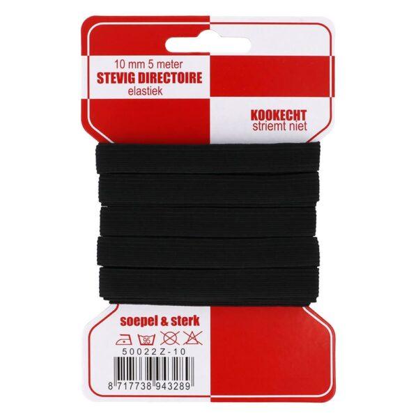 elastiek rode kaart 10 mm zw