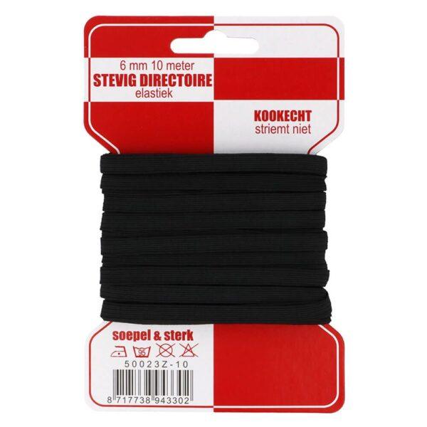 Rode kaart elastiek 6 mm