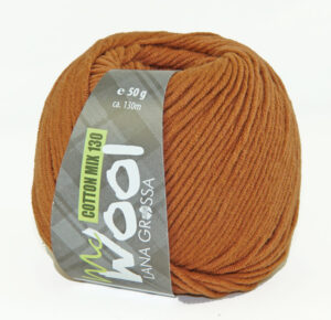 Mc Wool Cotton Mix 130 176 Kaneelbruin
