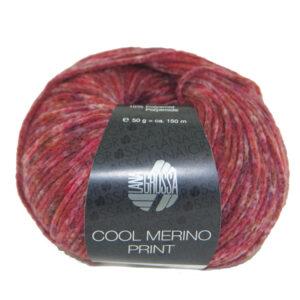 Cool Merino Print 101 Rood Grijs